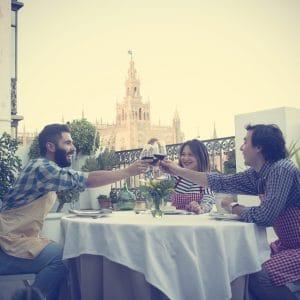Terraza Travel & Cuisine vistas a la Catedral